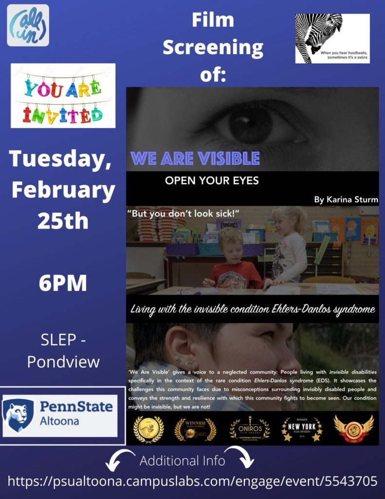 Penn State Event: We Are Visible Film Screening